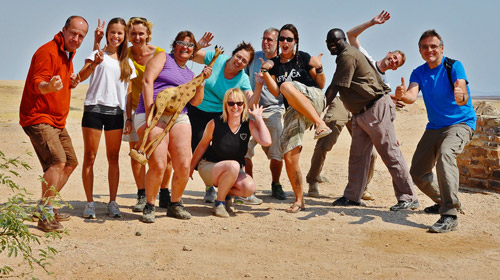gemeinsam Schwitzen in der Wüste Afrikas