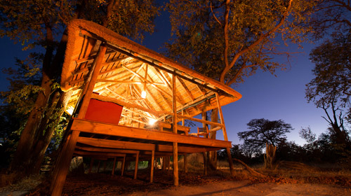 Safari-Unterkunft im Outback Afrikas