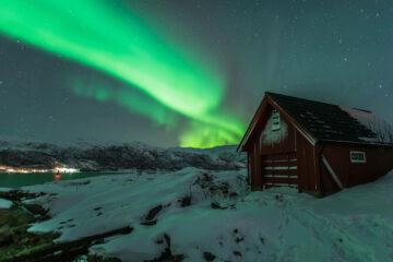 Norwegen Nordlichter Segeln Schiff